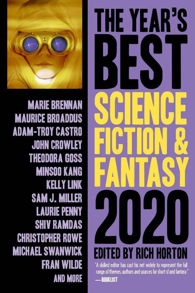 Cover of the Year's Best Science Fiction and Fantasy, 2020